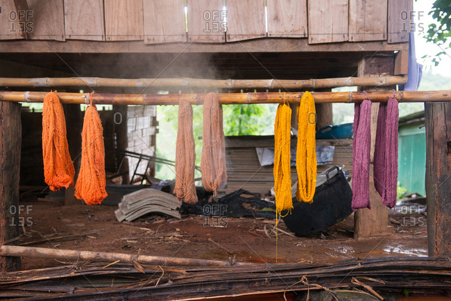 Drying Dyed Fabric