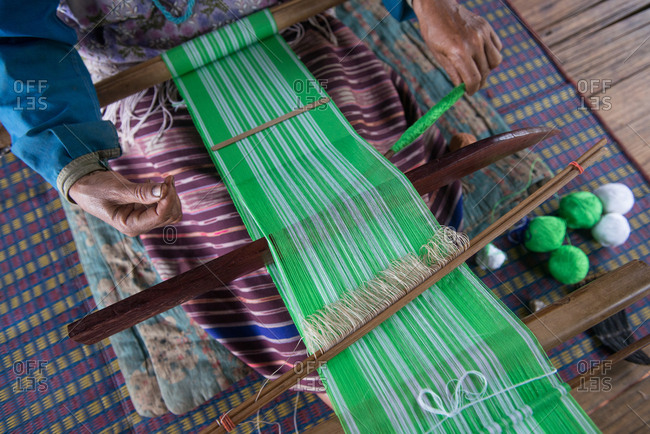Close up on Karen Traditional Weaving