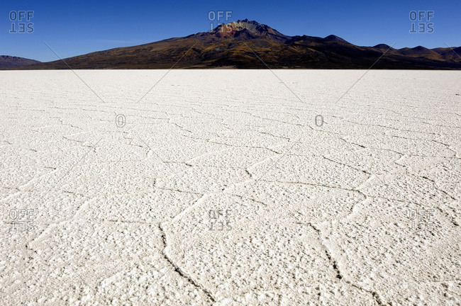 Bolivia, South America, Altiplano,  salt concretions in the Uyuni salt desert