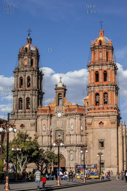 March 8, 2014: Mexico, State of San Luis Potosi, San Luis Potosi. Catedral de Nuestra Senora de la Expectacion
