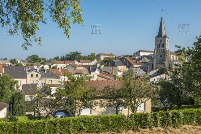 France, Centre France, Bourbonnais Mountain, village Le Mayet-de-montagne