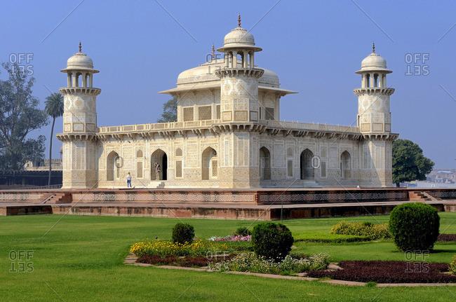 March 16, 2011: India, Uttar Pradesh, Agra, Itimad-ud-Daula mausoleum