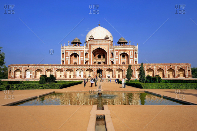 India, Delhi, Humayun's Tomb, Mughal mausoleum from the 16th century