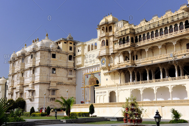 India, Rajasthan, City Palace in Udaipur