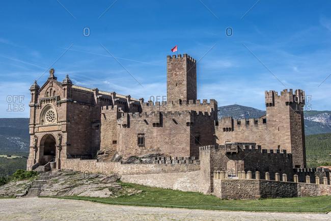 Spain, autonomous community of Navarre, Castle of Xavier, Camino de Santiago