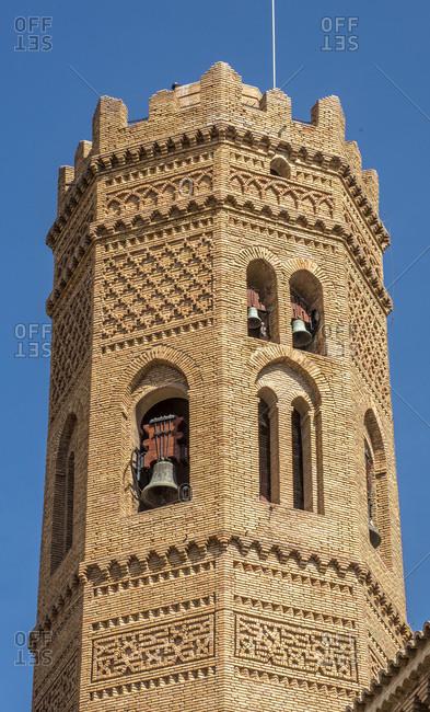Spain, autonomous community of Aragon, Church of Santa-Maria in Tauste, Mudejar style tower