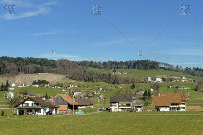 Switzerland, Wangen, Swiss chalets