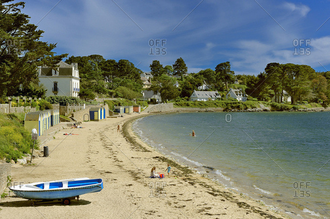 May 26, 2014: France, Brittany, Morbihan, Great beach, Ile aux Moines