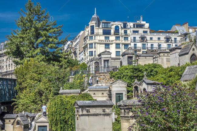 August 3, 2015: France, Ile de France, Paris, 18th district, general view of the Montmartre cemetery
