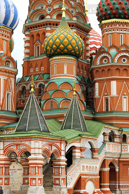 June 3, 2012: Russia, Moscow, Saint Basil's Cathedral, Red Square