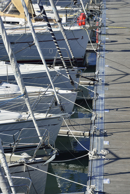 September 30, 2015: Europe France Crouesty the marina in the Morbihan