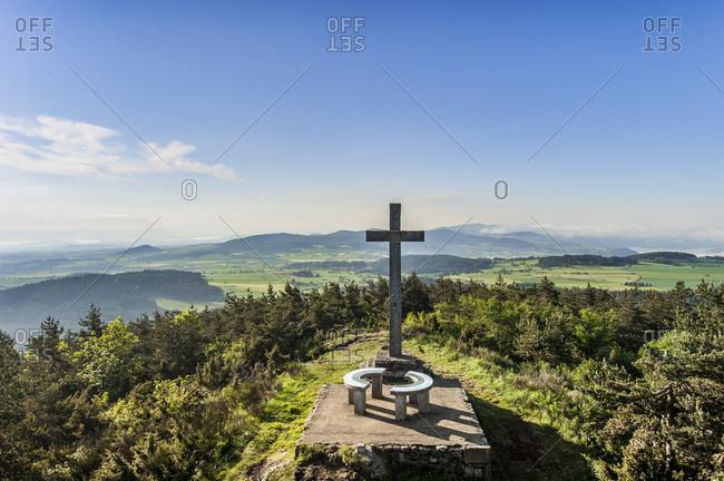 France, Auvergne-Rhones-Alpes, Haute-Loire, at the top of La Durande