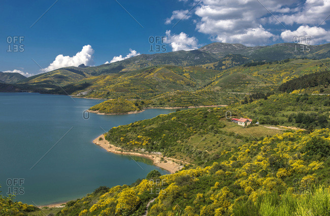 Spain, province of Le�n, Riano reservoir (artificial lake), Way St James