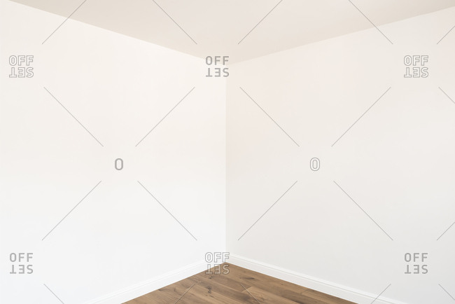 Angles leading to corner of white room