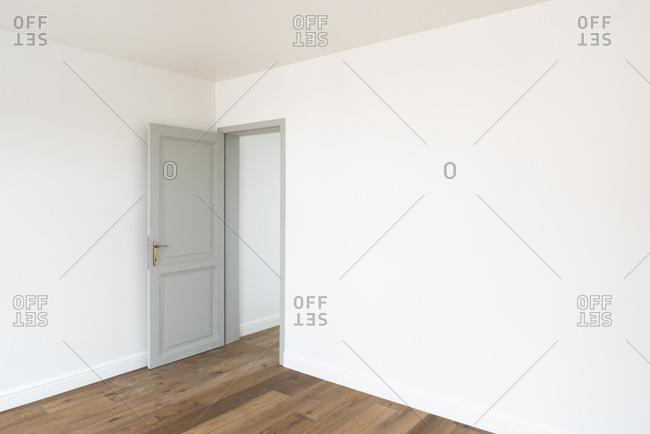 Open door to an empty room