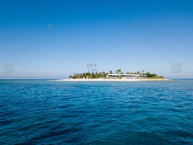 Aerial view of Malamala island in Fiji