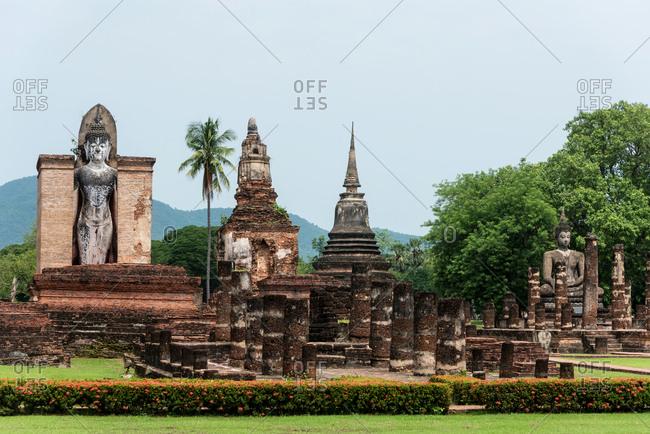 Ancient Buddhist temple in Sukhothai, Thailand