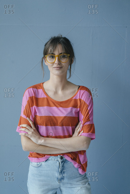 Young woman wearing glasses- portrait