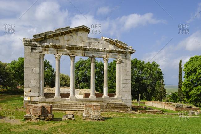 Albania- Fier County- ancient city Apollonia- Portal of Bouleuterion
