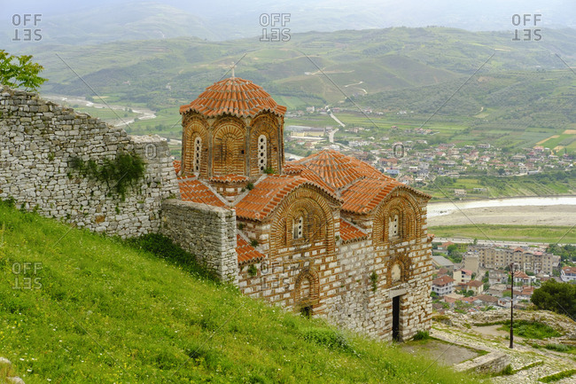 Albania- Berat County- Berat- Shen Triadha church