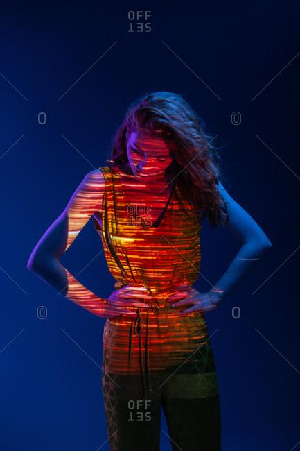 Dreamy woman in warm light