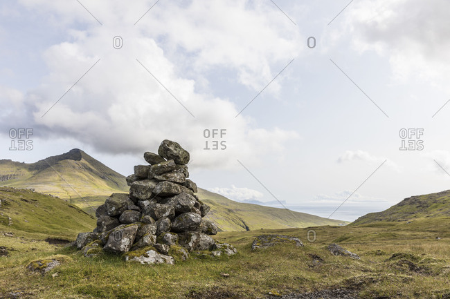 Faroes, cairn