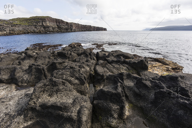Faroes, Sandoy, coast