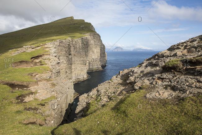 Faroes, Vagar, scenery, coast