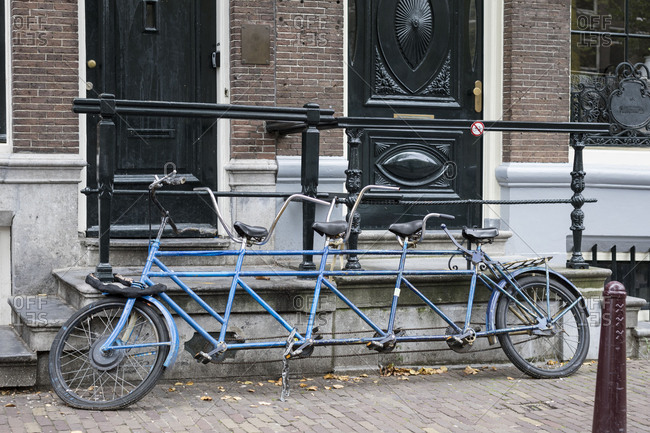 The Netherlands, Holland, Amsterdam, tandem