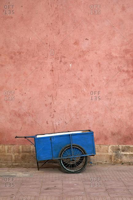 Essaouira, cart, wall, Morocco