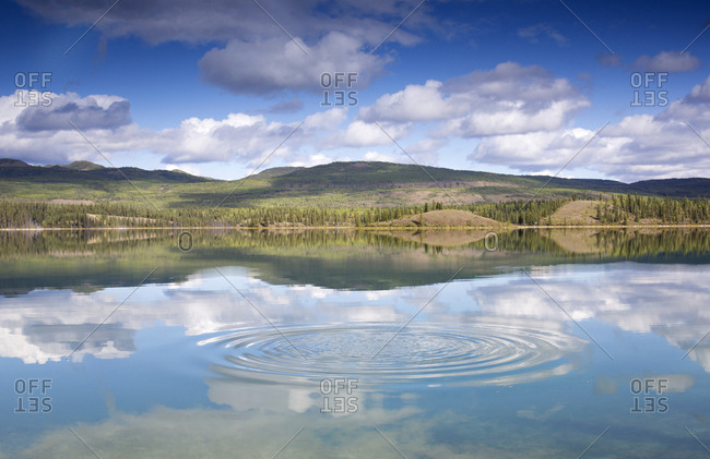 Ripples in Hunter's lake, Yukon, Canada