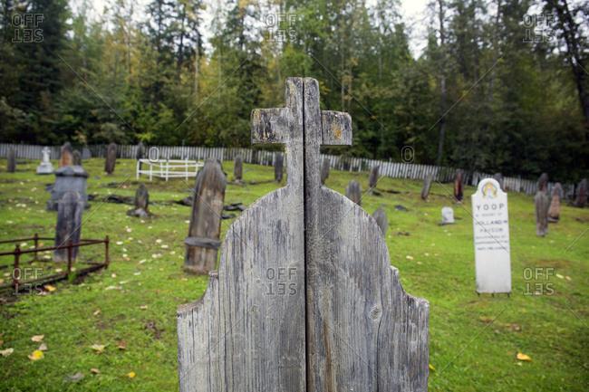 Gold miners old cemetery, Dawson City, Yukon, Canada