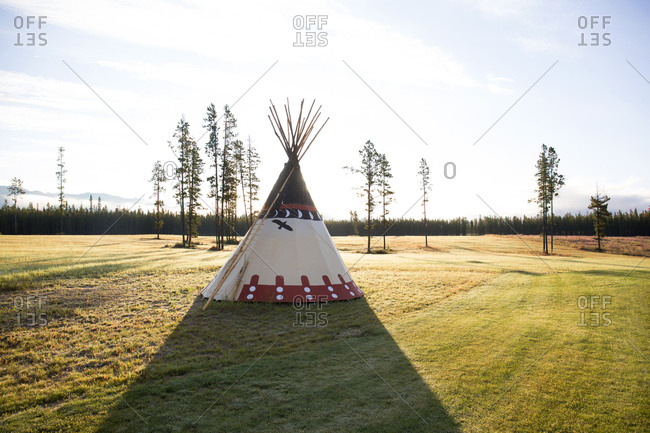 First Nations tipi, Near Whitehorse Village, Yukon, Canada