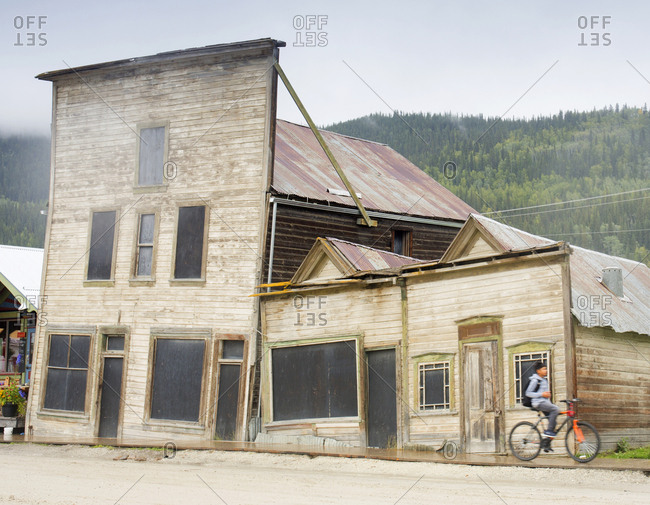 Dawson City, Yukon, Canada - August 30, 2018: Old gold rush town