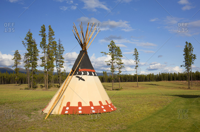 First Nations teepee, Near Whitehorse Village, Yukon, Canada