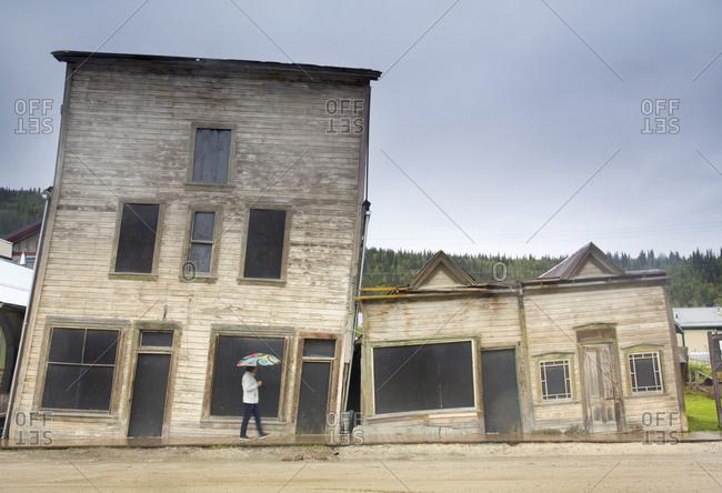 Old gold rush town, Dawson City, Yukon, Canada