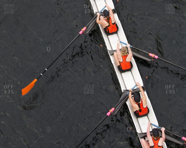 Female row team