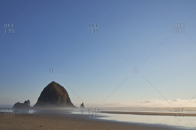 Rock formations at Cannon Beach, Oregon, USA