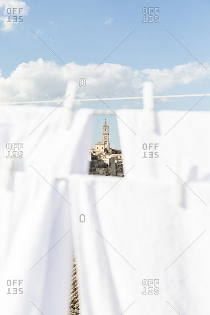 View of Matera Cathedral, Basilicata, Italy
