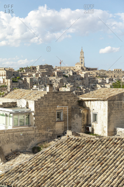 View of Matera in the afternoon Basilicata, Italy