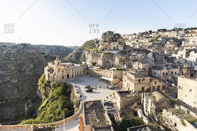 View of Sasso Caveoso, Matera city, Basilicata, Italy