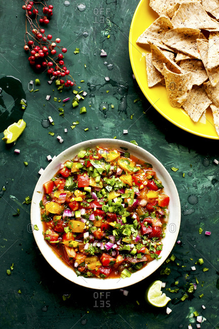 Heirloom Tomato Pico de Gallo served with gluten free chips