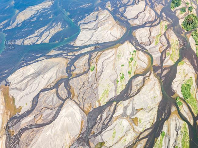 Aerial view of BioBio River, San Pedro de la Paz, Chile