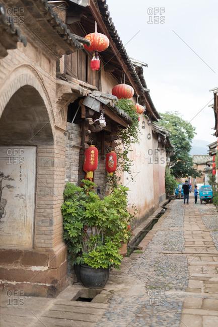 Shaxi, Yunnan, China - July 16, 2017: A traditional chinese village
