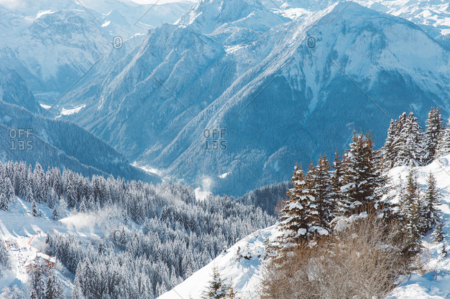 A winter scene in the French alps