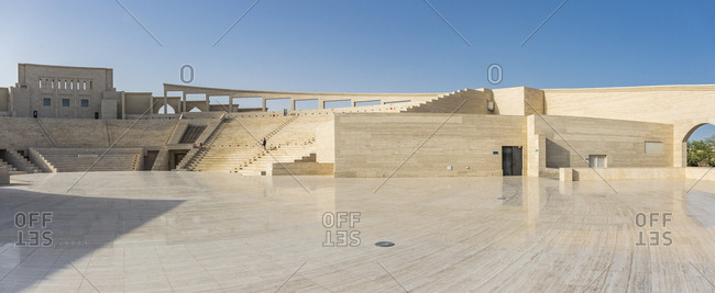 February 17, 2015: Qatar, Doha . Katara Cultural Village, view of the Amphitheater