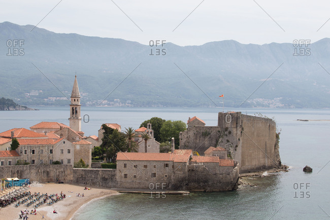 View over the Old Town in Budva, Montenegro