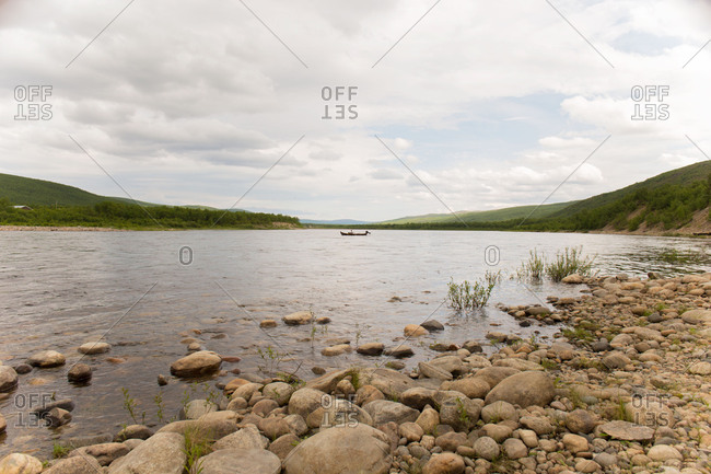 The Tana River, Finnish-Norwegian border, Utsjoki, Norhern Lapland