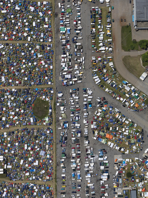 May 29, 2018: Aerial view of Southside Festival, Neuhausen ob Eck, Baden-Wuerttemberg, Germany