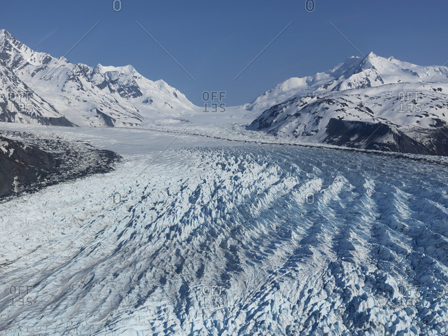Snowy Colony Glacier, Knik Valley, Anchorage, Alaska, USA
